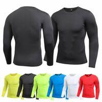 Men Sport Shirt Sous-Vêtement de Compression à Manches Longues Pour Hommes Tops
