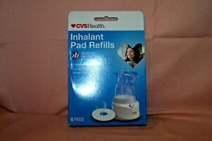 CVS Health Inhalant Pad Refills NEW in Box 6 Count Soothing Menthol Vapors HTF