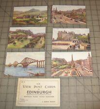Vintage Unused 6-Pack of EDINBURGH Watercolor Postcards - Productions SET A