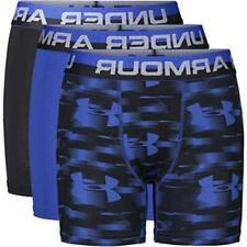 Under Armour Boys' Performance Boxer Briefs, Blue, Size Large HuhG