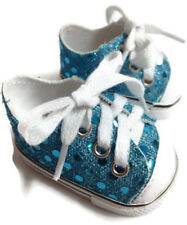 """Teal Sequin Tennis Sneakers for 18"""" Doll"""