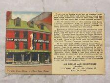 Vintage c. 1945 Linen Postcard: Ye Olde Oyster House Union Street Boston MA #2