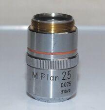 NIKON M-PLAN Metallurgical Microscope Objective 2.5x 0.075 210/0