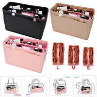 Multi Pocket Handbag Organizer Felt Purse Insert Bag fits Neverfull MM 3 Colors