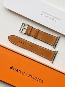 Apple Watch Hermes Strap - 44mm Fauve Barenia Leather Single Tour