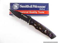 Smith & Wesson Extreme Ops Liner Lock Knife, Serrated, Rainbow Handle