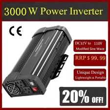 6000W Max 3000W Power Inverter Sine Wave DC 12V to AC 110V Power Display#@