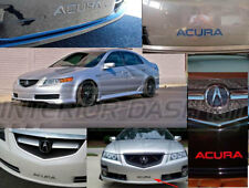 ACURA TL FRONT BUMPER CHROME LETTERS INSERT INDENTATION 2004 2005 2006 2007 2008