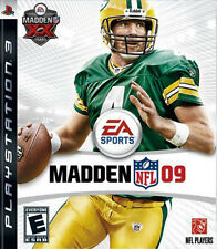 Sony Ps3 Madden Nfl 09 Video Game Realistic Football Players Stadiums Favre 2009