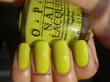 NEW! OPI Nail Polish Vernis DID IT ON 'EM ~ Chartreuse Green Creme