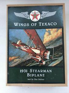 1931 Stearman Biplane Ertl #3 Wings Of Texaco  Diecast Airplane Coin Bank