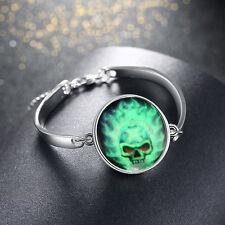 Fashion Women's Luminous Skull Haloween Bracelets Bangle Jewelry for Party