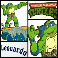 TMNT 1990 Leonardo Surfing Mirror Vintage Teenage Mutant Ninja Turtles Logo Leo