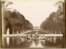 France, Versailles, Bassin d'Apollon Vintage albumen print  Tirage albumi