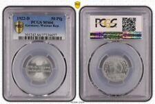 Weimar 50 Pfennig 1922 D Brilliant Uncirculated PCGS MS66 (37201)