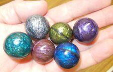 Set of 6 novelty mini Bowling Balls (27 mm Bouncy Balls