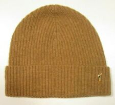Polo Ralph Lauren Men's Camel/Beige/Tan Wool Blend Ribbed Cuff Beanie Hat
