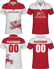 NEW 2018 Team Denmark Danmark Hockey Polo T-Shirt NHL Nielsen Eller Hansen Regin
