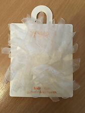 Gymboree Girls Ivory White Curly Hair Clip - Wedding Party Christening