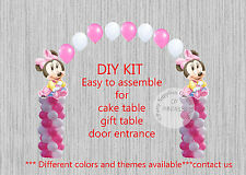 Baby Minnie Mouse BALLOON ARCH with COLUMNS Birthday Party Decorations Disney