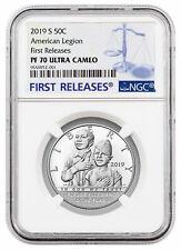 2019 S American Legion 100th Clad Half Dollar Ngc Pf70 Uc Fr Presale Sku57414