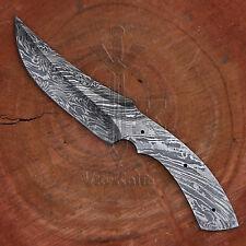 Handmade Damascus Steel Hunting Skinner Knife Blank Blade vk2180
