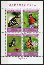 Madagascar 2019 CTO Butterflies Monarch Butterfly 4v M/S Papillons Stamps
