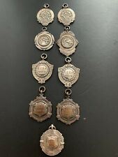 Job Lot Of Vintage Silver Plated  Sporting  Fobs / Medals