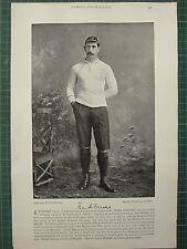 1897 PRINT FAMOUS FOOTBALLERS ~ FRANK EVERSHED BURTON-ON-TRENT F.C