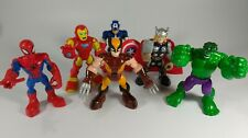 """Hasbro ©2012 Marvel Action Figure (Lot Of Six) Marvel 5"""" Tall Moving Arm Action"""