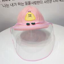 Niños anti escupir Protectora Rostro Completo buckethat copver Gorra De Pescador a prueba de polvo