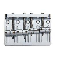 4 String Hardtail Bridge for Precision Jazz Bass Chrome 201B-4 Badass P7L1