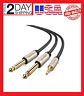 "UGREEN 3.5mm 1/8"" TRS to Dual 6.35mm 1/4"" TS Mono Stereo Y-Cable Splitter Cord C"