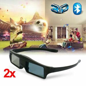 2x Blue Tooth 3D Brille Active Shutter Brillen Für Epson 3LCD Projektor and 3DTV
