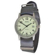 Aristo submarino 3h17tg automático unisex reloj de pulsera 10atm swiss movement textil Band
