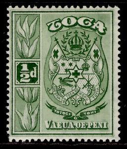 TONGA GV SG55, ½d yellow-green, M MINT.