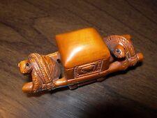 Netsuke tortue turtle figurine buis japonais Handmade Carving signé
