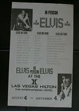 1972 Elvis Presley Concert Tour Schedule Poster from the Elvis MGM 1999 Auction