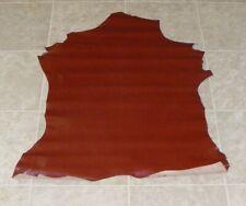 (Wve7747-2) Hide of Glossy Red Brown Lambskin Leather Hide Skin
