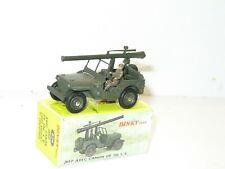dinky toys militaire, Jeep willys avec son canon de 106 SR, ref 829 compléte