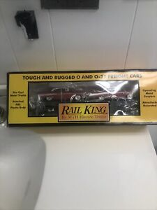 RAIL KING MTH LINES WITH ERTL 57 CHEVYS SEMI SCALE FLAT BED 30-7610 NOS