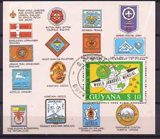 GUYANA sheet Mi 40 USED padvinderij, Scouting Jamboree mondial 0264