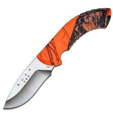 Buck Omni 12 Pt Hunter Knife Plain Edge Mossy Oak Blaze Handle & Sheath 392CMS9