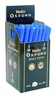 50 YES 50 X HELIX OXFORD BALL PENS - BLACK OR BLUE - GREAT DEAL + FREE P&P!