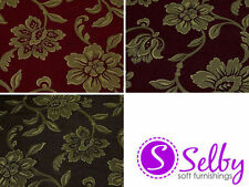 Unbranded by the Metre Chenille Floral Craft Fabrics