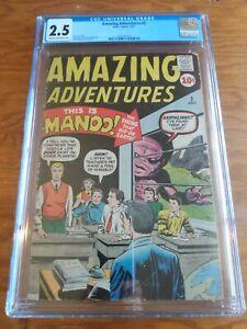 Amazing Adventures 2 Atlas Comics CGC 2.5 Stan Lee Story, Kirby Cover ,Ditko Art