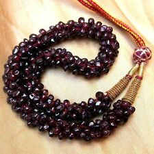MOST BEAUTIFUL NECKLACE NATURAL & UNTREATED RED GARNET GEMSTONE FREEFORM BEADS