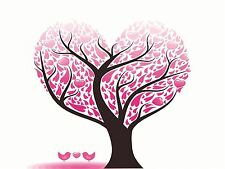 ART PRINT POSTER PAINTING ABSTRACT LOVE HEART TREE DESIGN LEAVES VECTOR LFMP0050