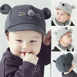 Summer Toddler Kid Baby Boy Baseball Cap Mouse Cute Ear Snapback Sun Hat Visor Y