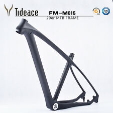 "Carbon mountain bike frame Matt 29er 17.5/19"" mtb bicycle frameset headset BSA"